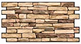 PVC plástico paneles de pared 3d decorativo revestimiento de azulejos–piedra natural Slate