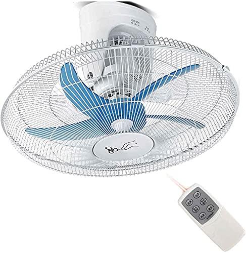 wsbdking 20'Ventilador de Techo de 360 Grados Montaje de Pared Giratorio Ventilador Industrial para Sala de Estar Dormitorio 5 Hojas de Ventilador 90W (Color: mecánico) (Color: mecánico)