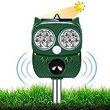 AILEDA Repellente Gatti, Repellente Ultrasuoni Energia Solare IP66 Impermeabile a...