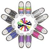 CODIRATO 6 Pares Cordones de Silicona sin Corbata, Cordones Elásticos de Silicona Impermeable Fácil de Limpiar Cordones Zapatos Elasticos Adecuado para Todos (Multicolor)