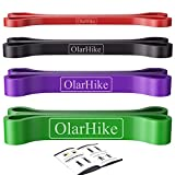 OlarHike Resistance Bands, Pull Up Bands Set for Working Out, Exercise Bands and Workout Bands for Men and Women, Assist Bands for Body Stretching, Powerlifting, Four Colors
