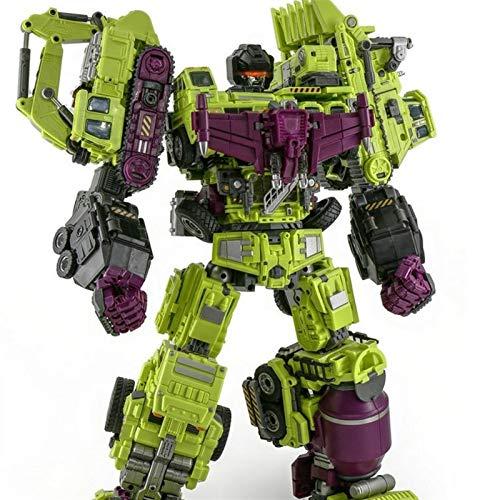 ZJXYYYzj Transformers toys, Oversized Devastator Transformation Toys Cool KO Action Figure Robot Car Trucks Hook Model Boy Toys