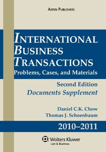 International Business Transactions 2010-2011 Supplement 2 Sup edition by Chow, Daniel C.K. (2010) Paperback