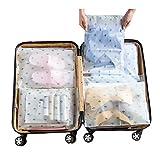 Vankra - 10 bolsas de viaje impermeables de plástico, transparentes, esmeriladas con cierre, bolsas de almacenamiento para ropa, Number 4