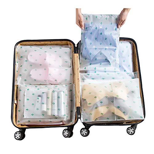 Vankra 10 Bolsas de Almacenamiento para Ropa, Impermeables, de plástico, con Cierre de Cremallera, Transparentes, Mezcla