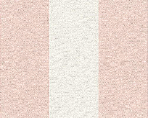 Oilily Home Vliestapete Oilily Atelier Tapete Blockstreifentapete 10,05 m x 0,53 m rosa weiß Made in Germany 311313 3113-13