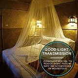 Homealexa Moskitonetz inklusive Klebehaken für Reise und Zuhause - extra-groß Mückennetz für Doppelbett & Einzelbett, Betthimmel Fliegennetz - 3