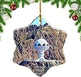 Mesllings Adorno de Navidad de Omán, diseño de moscate, recuerdo de viaje, colgante de árbol colgante de 7,6 cm