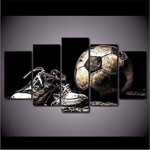 Voetbalschoenen, posters, HD-prints, voetbalafbeeldingen, home decoratie, frame, canvas voor woonkamer, muurkunst, 5 stuks 30x40cmx2 30x60cmx2 30x80cmx1 Geen frame