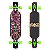 Osprey Skate Kids 'Character Completo Longboard monopatín, Color Verde, Talla 39