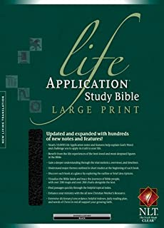 NLT Life Application Study Bible, Second Edition, Large Print (Red Letter, Bonded Leather, Black, Indexed)