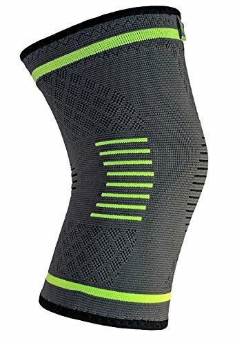 NatraCure Kompression Kniebandage & Knieschoner schützt bei Sport, Joggen, Fitness – Knieschützer & Knie Bandage, schmerzlindernd bei Meniskus Verletzung & Arthrose – Extra Groß, Größe XL