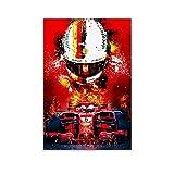 Sebastian Vettel F1 Poster, dekoratives Gemälde, Leinwand,