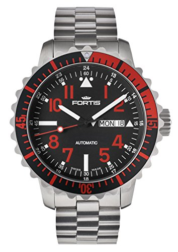 Fortis B-42 Marinemaster Day/Date Red 670.23.43 M