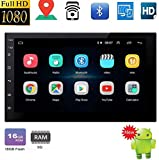 Double Din Android 10.0 System Bluetooth Car Stereo GPS Head Unit with 7'' HD Touch Screen in Dash Car Radio Multimedia Player Mirror Link Support Backup Camera Input FM Radio