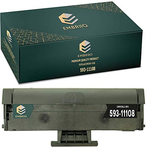 EMBRIIO 593-11108 HF44N Compatible Toner Cartridge Replacement for Dell B1160 B1160w B1163w B1165nfw