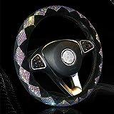 Sparkly Diamond Bling Steering Wheel Cover for Women Rhinestone, 14.5...