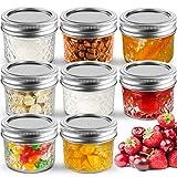 Best Mason Jars - Small Mason Jelly Glass Jars 4 OZ [8 Review