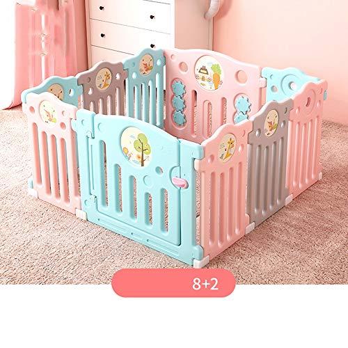Barrière de lit HUO Baby Fence Home Enfants Ramper Mat Toddler Indoor Safety Fence Bébé Jeu Clôture Jouet Multi-Taille en Option Facile à Transporter (Taille : 8+2)