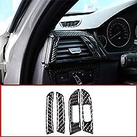 カーアクセサリーカーボンファイバーエアベントステッカートリムアクセサリーに適しています?BMW 3シリーズGT F30 F33 F34 F36 2013-2019