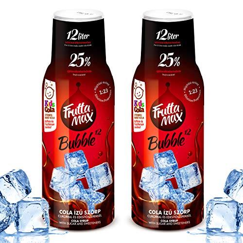 Frutta Max Getränkesirup Frucht-sirup Konzentrat | Cola- Koffein-Phosphorsäure frei Geschmack | weniger Zucker | mit 25% Fruchtanteil | für Soda Maschine geeignet 2erPack
