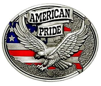 American Pride Eagle And USA Flag Design Cowboy Belt Buckles More Styles  Eagle USA Flag 1