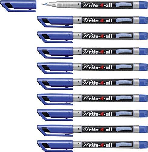Marcatore - STABILO Write-4-all - Tratto Superfine (0,4 mm) - Confezione da 10 - Blu