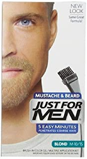 Just for Men Brush-in Color Gel for Mustache & Beard, Blond M-10/15 1 Ea