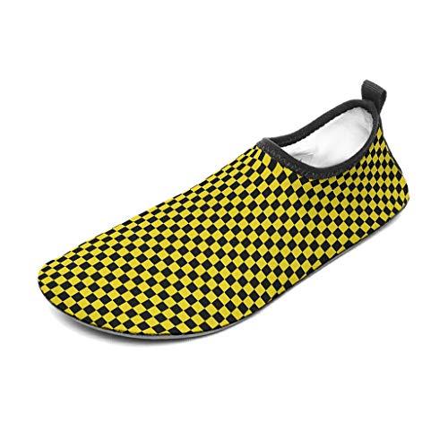 Bannihorse - Zapatos de goma para mujer, color negro y rojo, para deportes acuáticos, playa, piscina, surf y yoga, color blanco 2 36/37