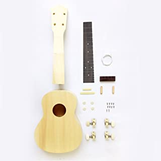 Zimo DIY Ukulele Make Your Own Ukulele Hawaii Ukulele Kit (26inch)