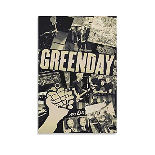 YUEB Green Day Poster Cover Poster Decorative Painting Canvas Wall Art Living Room Posters Bedroom Painting 24×36inch(60×90cm)