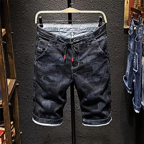 HHXX HUIXUJPN 2020 Summer New Men's Denim Shorts Fashion Slim Fit Micro Elastic Cotton Black Wash Ripped Jeans Male Clothes (Color : X3176 Black, Size : 34)