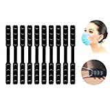 AXAYINC 10PCS Black Mask Extender, Anti-Tightening Ear Protector Decompression Holder Hook Ear…