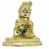 Small Hindu God Krishna Statue - Indian Baby Krishna Idol Figurine Home Office Mandir Temple Pooja Item India Baby Shower Return Gifts Wedding Diwali Gifts Murti Buddha Religious Figurines Gifts
