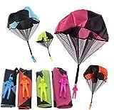 Sunshine smile Paracaídas para niños, 4 paracaídas de mano, juguete para niños, 4 unidades