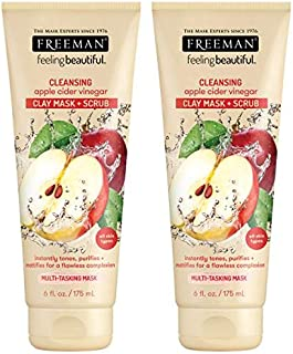 Freeman Facial Apple Cider Vinegar Clay Mask + Scrub 6 Ounce (177 ml)