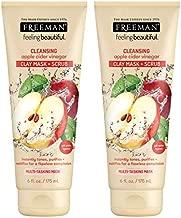 Freeman Facial Apple Cider Vinegar Clay Mask + Scrub 6 Ounce (2 pack)