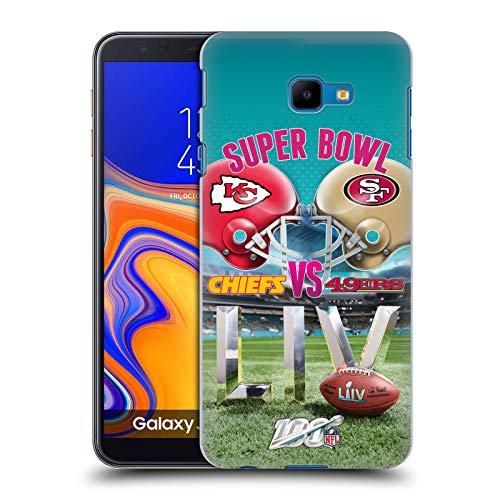 Official NFL Kansas City Chiefs vs San Francisco 49ers 2020 Super Bowl LIV Versus Hard Back Case Compatible for Samsung Galaxy J4 Core