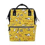 Funny Animal Mouse mochila bolsa de pañales para mamá mujeres bebé bolsa de viaje mochila grande mochila escolar portátil senderismo bolsa