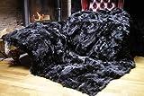 Toscana Lammfelldecke Schaffelldecke schwarz 220 x 200 cm