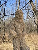 Lightweight Durable Mossy Ghillie Suit Camo Sniper Jacket with Pants Set (Mossy, XL/XXL)