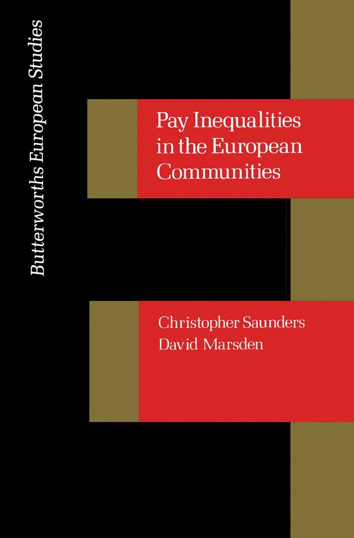 Pay Inequalities in the European Community: Butterworths European Studies
