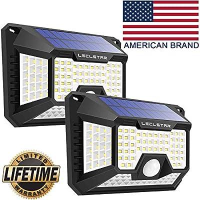 Solar Motion Sensor Light Outdoor,New Upgrade 128 LEDs Solar Lights Outdoor,Motion Solar Lights Outdoor Waterproof,Led Solar Lights Outdoor Motion Sensor,Super Bright Solar Sensor Lights (2 Pack)