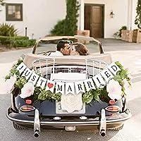 🌈Size: 12*15CM 🌈JUSTE MARIÉ lettre fishtail traction drapeau, décoration de mariage, un parfait décoration selon le thème de la fête 🌈Ils peut être accroché sur les murs, les fenêtres, branches, portes, etc. et sont un grand intérieure et extérieure ...