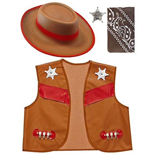 WIDMANN Set Disfraz de Sheriff Infantil T-U Infantil