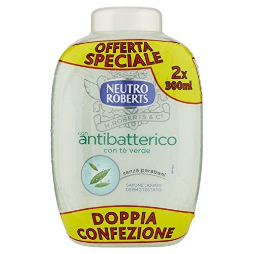 Neutro Roberts Jabón Líquido carga bis antibacteriana–600ml