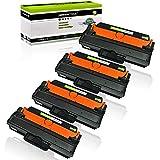 greencycle 4 Pack Black Toner Cartridge Replacement Compatible for Samsung MLT-D115L D115L SL-M2820DW SL-M2870FW SL-M2880FW Xpress M2670 M2820 M2870 Laser Printer