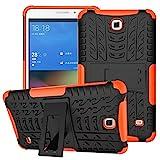 XITODA Funda para Samsung Galaxy Tab 4 7.0, Hybrid TPU Silicone & Duro PC Protección Cover para Samsung Galaxy Tab 4 7.0 Pulgadas SM-T230/T231/T235 Tablet Case Funda con Kickstand/Stand - Naranja