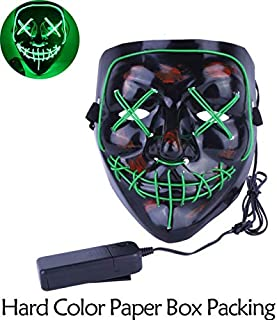 TANGGOOO Halloween Mask Up Party Masks The Purge Election Year Great Funny Masks Festival Cosplay Costume Supplies Glow in Dark New Must Haves Unique Gifts Boys Favourite Characters Superhero