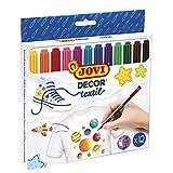 JOVI 10532 Feutre Coloriage Décor Textil Étui de Lot de 12 Assorties